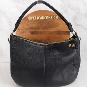 J. Crew black leather shoulder bag